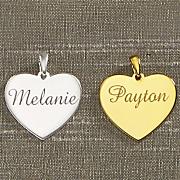 name heart charm