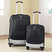 2 pc  valencia hybrid spinner luggage set by travelers club