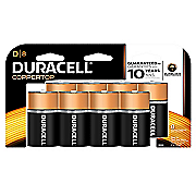 duracell d 8 pack batteries
