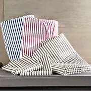 300-Thread Count Ticking Stripe Sheets