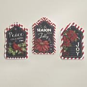 set of 3 holiday tags