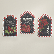 set of 3 holiday tags