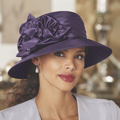 Satin Floral Hat