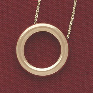14K Gold Circle/Slide Pendant