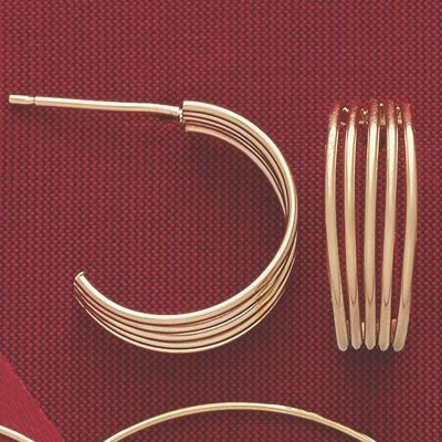 10K Gold 5-Wire Hoops