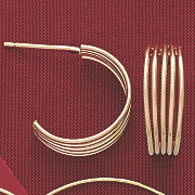 10k gold 5 wire hoops