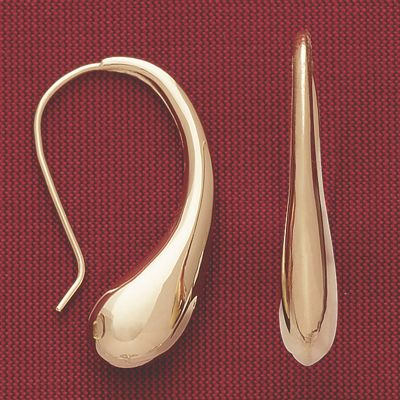 10K Gold Teardrop Earrings