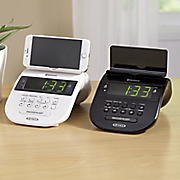 bluetooth clock radio with cell phone holder by jensen
