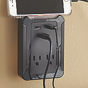 3 usb  2 ac outlet charging station by ge