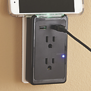 2 usb  2 ac outlet expander and surge protector by ge