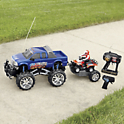 rc ford f 350 with atv on trailer