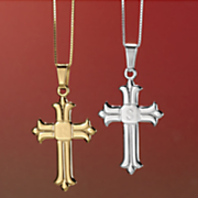 initial cross pendant
