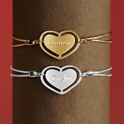heart name bracelet