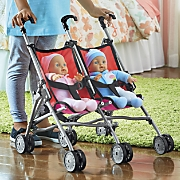 twin dolls with stroller