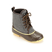 felt lace up duck boot by superior boot co