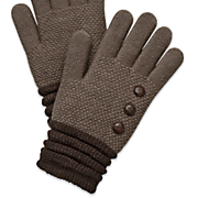 women s button knit gloves