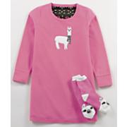 llama sleepshirt   sock set