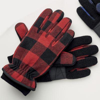 Men's Plaid Thinsulate Gloves