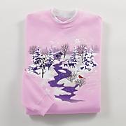 winter scene sweatshirt