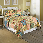 floral patch quilt and sham