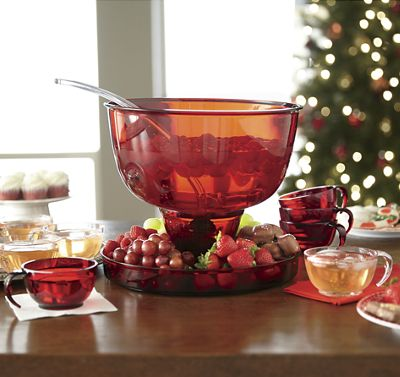 Acrylic Punch Bowl Serving Set
