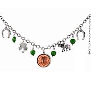 irish penny lucky charm bracelet