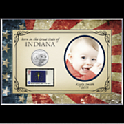 personalized born in the great state photo frame