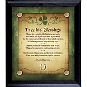 Personalized Irish Blessings Wall Frame