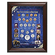 Framed My First Coin Collection