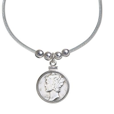Year To Remember Coin and Sterling Silver Pendant