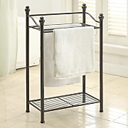 belgium 2 tier bath towel rack