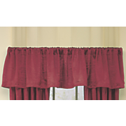 crushed faux silk valance
