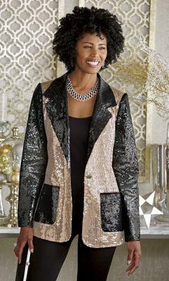 Arianna Sequin Jacket