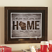 Personalized State of Love Plaque