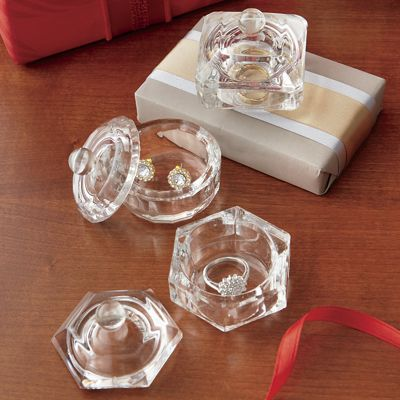 Set of 3 Crystal Boxes