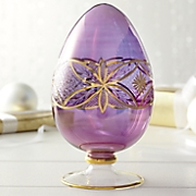 gold etched glass egg