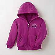 personalized sherpa lined zip hoodie
