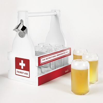 Beer Carrier with Glasses
