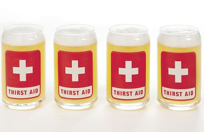 "Set of ""Thirst Aid"" Glasses"