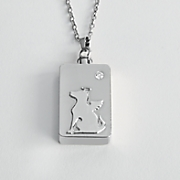 personalized angel pet pendant