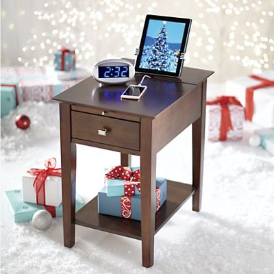 End Table with Charging Function