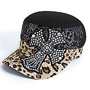 animal print sparkle hats