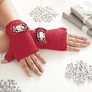fingerless jeweled gloves