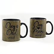 dog mom and dad set of 2 mugs