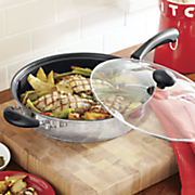 ginny s brand portobello 4 qt  skillet with helper handle