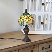 Stained Glass Sunflower Accent Lamp