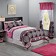 camelia complete bed set and window treatments