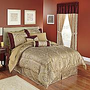 tatiana 10 pc  jacquard bed set and window treatments