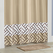 bath mat set with shower curtain