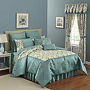 bristol jacquard 12 pc  bed set and window treatments